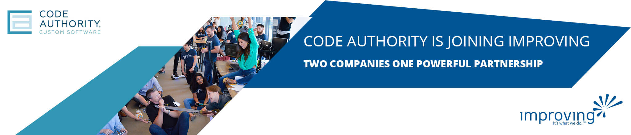 Code Authority and Improving are joining forces to support the software needs of DFW.